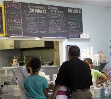 Obama frozen custard