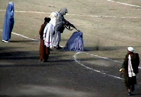 Taliban shooting woman