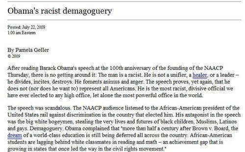 Wnd obama racist