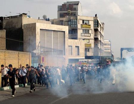 Iran tear gas