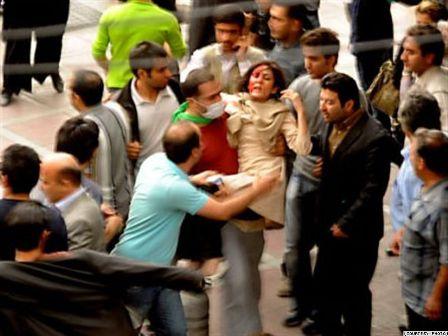 Iran beaten woman