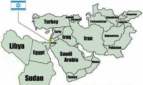 Israel map TINYISR