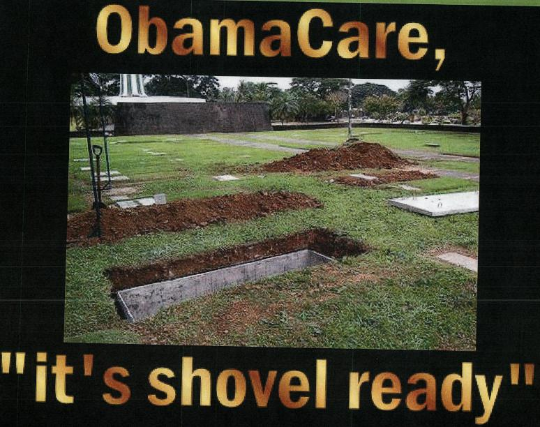 Obama healthcare shovel