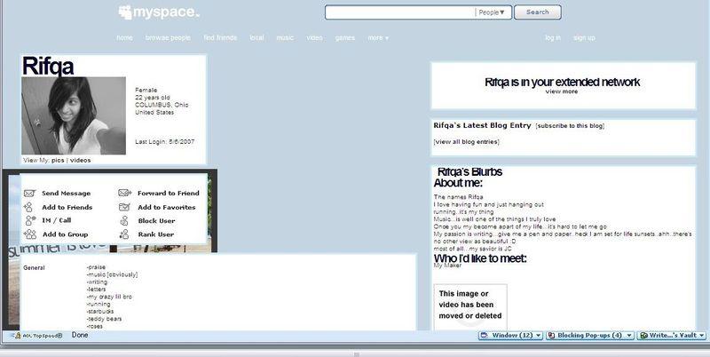 Rifqa myspace