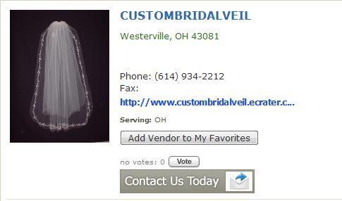 Custom bridal veil