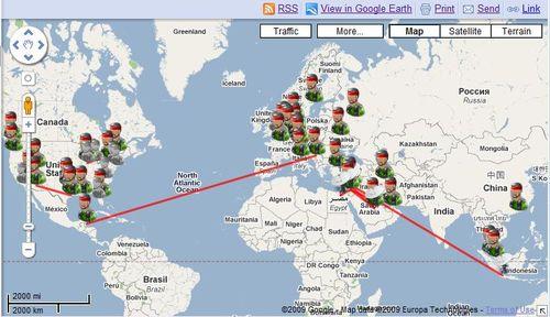 Map of terror