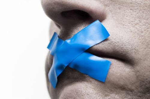 Free speech silenced