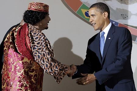 Obama gaddafi