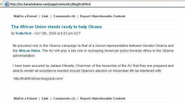 Obama website 2