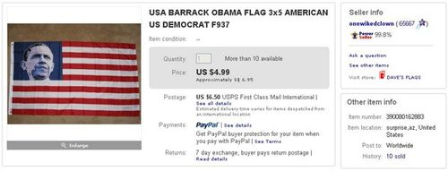 USA BARRACK OBAMA FLAG
