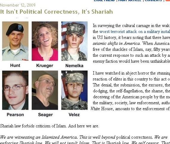 American thinker shariah