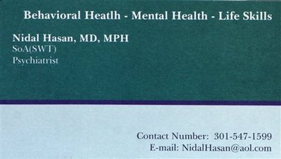 Hasan calling card