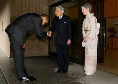 Obama bow japan