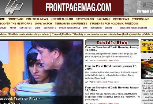Front Page Interview, Pamela Geller: Facebook Fatwa on Rifqa