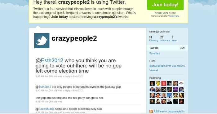 Twitter threats cracy