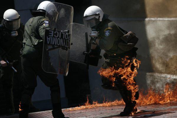 Police burning 4