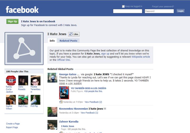 FB hate jews