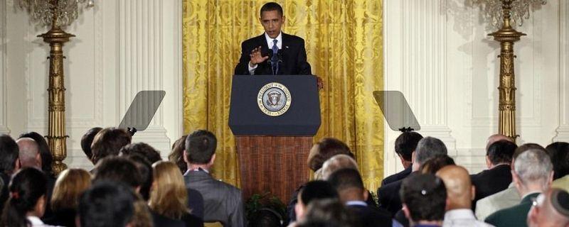 Obama flagless
