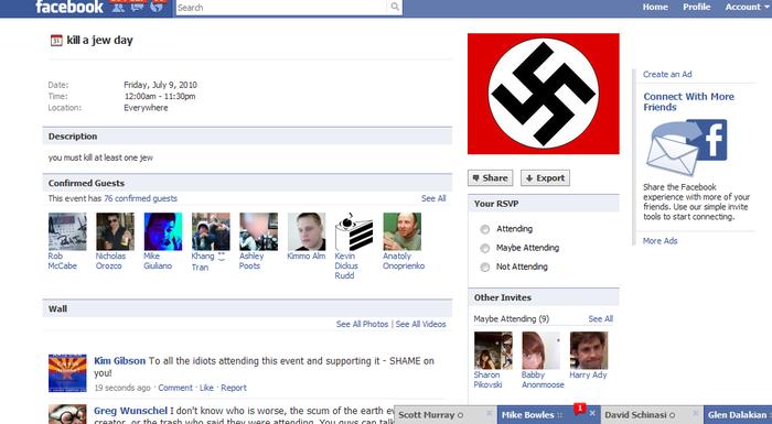 Kill jew day FB