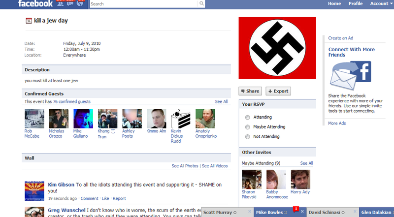 Kill jew day FB