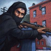 Burka muslim murderer