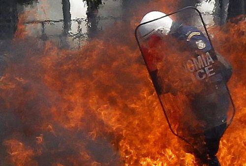 Police burningF