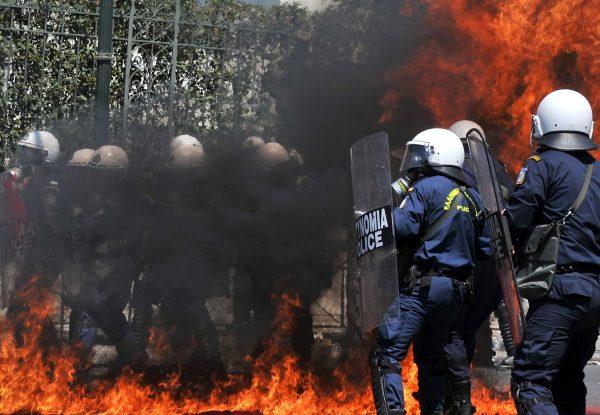 Police burning 6