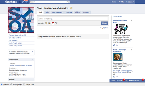 Anybody know what happened to our Facebook page? It's empty. Blank.
