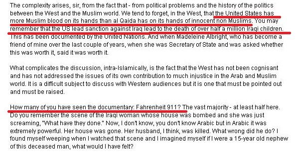 Imam Abdul Feisal Rauf_ blame