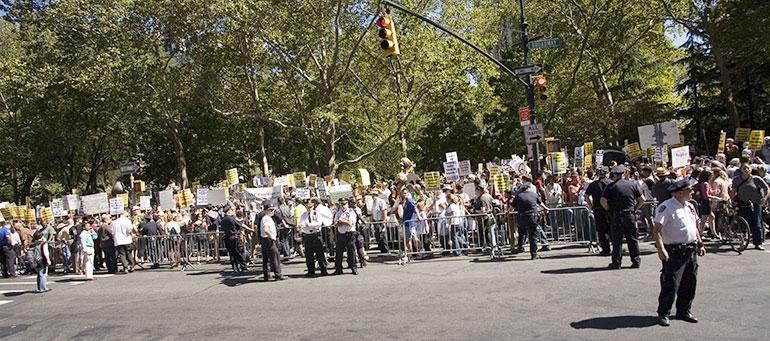 Rally left