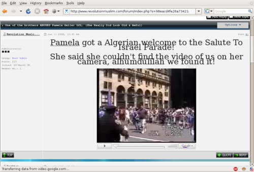 Screenshot-One of the brothers ABUSES Pamela Geller LOL - Revolution Muslim Forum - Mozilla Firefox
