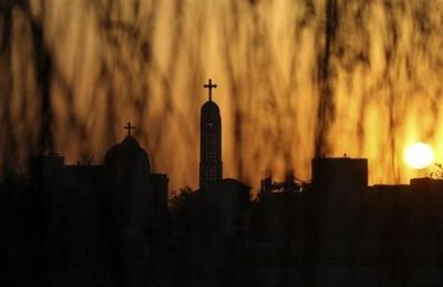 Coptic_church_at_sunset