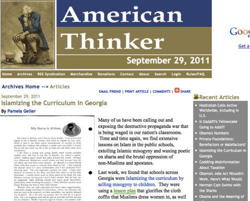 American thinkerIslamizing the Curriculum in Georgia_1317277803130