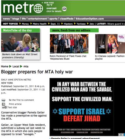 Metro - Blogger prepares for MTA holy war_1316711581352