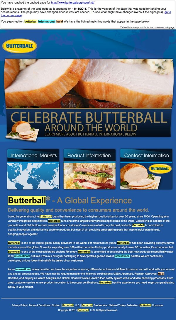 Butterball® International (20111126)