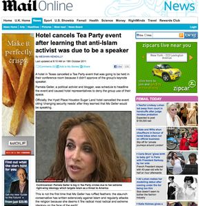 Sugar Land hotel in Texas cancels Tea Party event over anti-Islam activist Pamela Geller | Mail Online_1319061321454