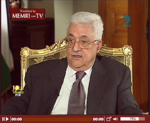 PA Chairman Mahmoud Abbas: I Will Never Recognize a Jewish State; The Capturing of Israeli Soldier Gilad Shalit Was a Good Thing_1320075518021