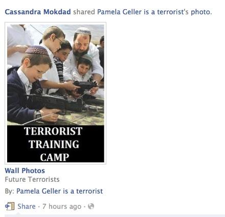 Cassandra Mokdad Jew hate geller hate