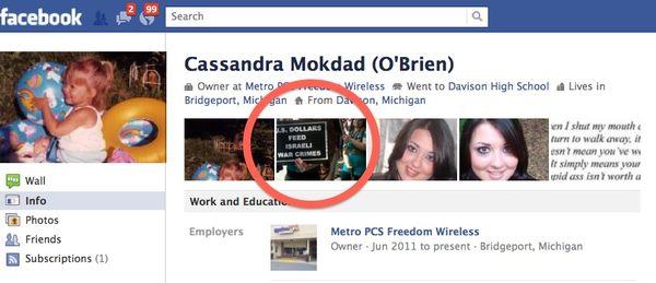 Cassandra mokdad FB profile