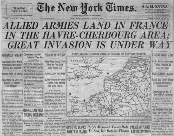 D-Day_NYT_cover_06.06.44