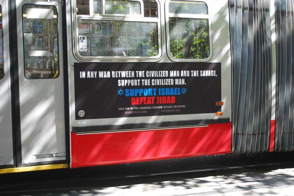 Pro-freedom bus ad