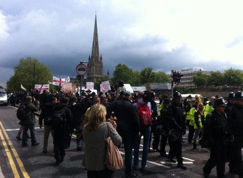 Bristol EDL march and anti-EDL protests _ This is Bristol_1342303687108