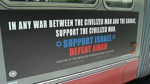 The American Freedom Defense League's ad campaign.