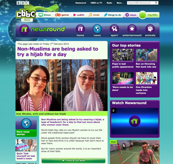 CBBC Newsround - Non-Muslims are being asked to try a hijab for a day_20130228_004315