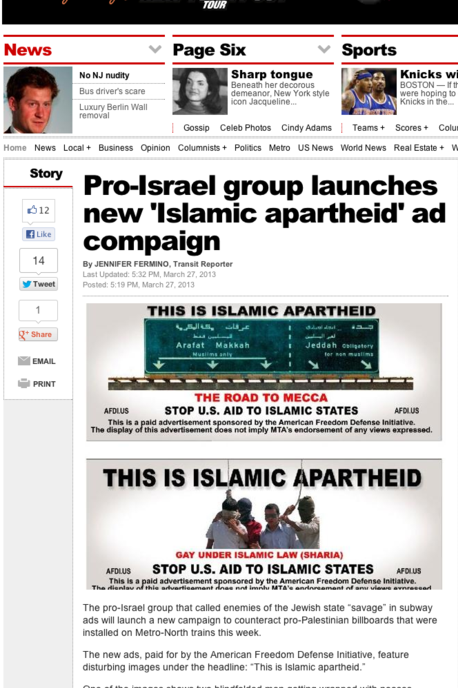 NY Post islamic apartheid