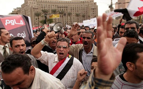 Egypt palace protest
