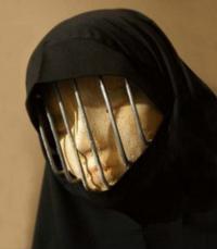 Burqa prison bars