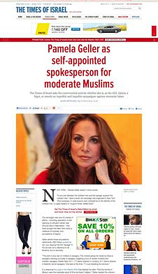 Pamela Geller as self-appointed spokesperson for moderate Muslims_The Times of Israel_20130510-130721