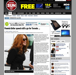Pamela Geller speech still a go for Toronto_Toronto & GTA_News_Toronto Sun_20130503-000629