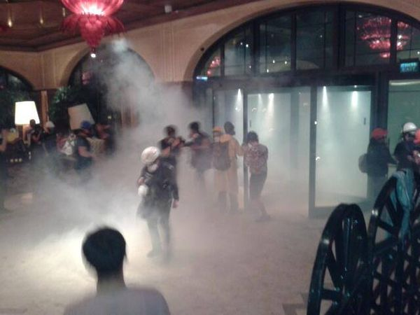 Turkey teargas hotel
